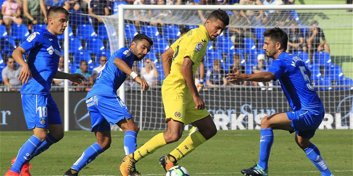 Getafe goleó 4-0 al Villarreal, que contó con Carlos Bacca 30 minutos