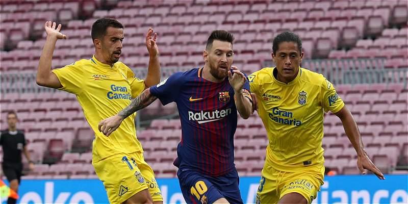 Barcelona venció 3-0 a Las Palmas, en partido jugado a puerta cerrada