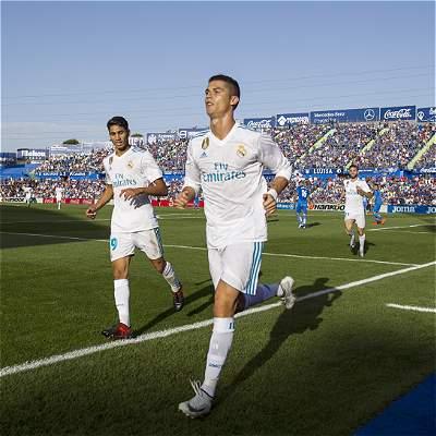 Cristiano marcó su primer gol en Liga: Real Madrid venció 1-2 a Getafe