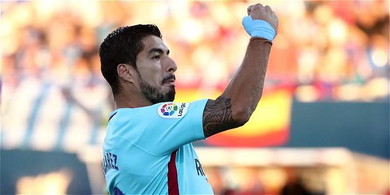 Con doblete de Luis Suárez, Barcelona le ganó 0-3 al Leganés