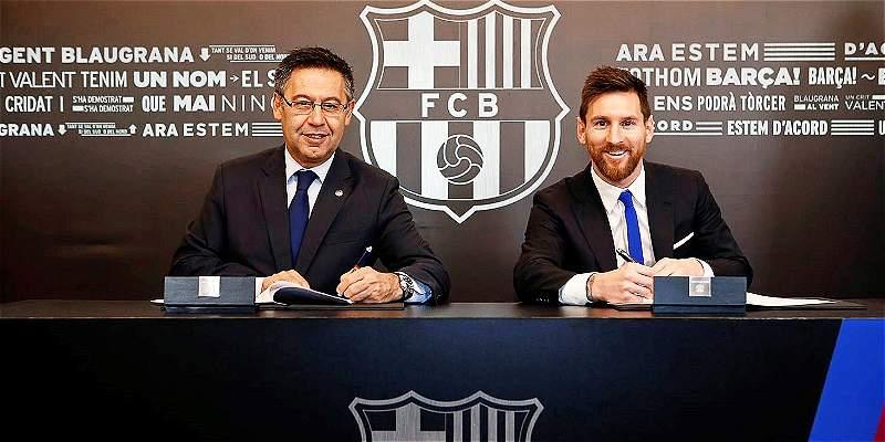 Messi renovó contrato
