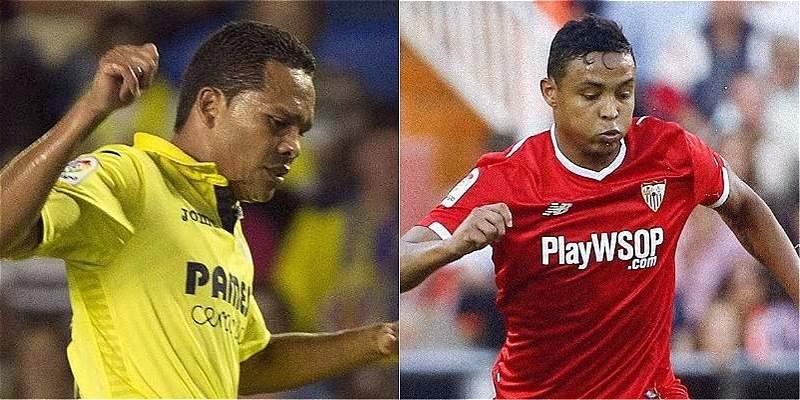 ¡Hay duelo colombiano! Bacca y Muriel, titulares en Villarreal-Sevilla