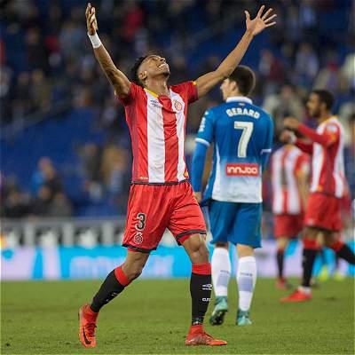 Girona, con Johan Mojica, venció 0-1 al Espanyol en la Liga de España