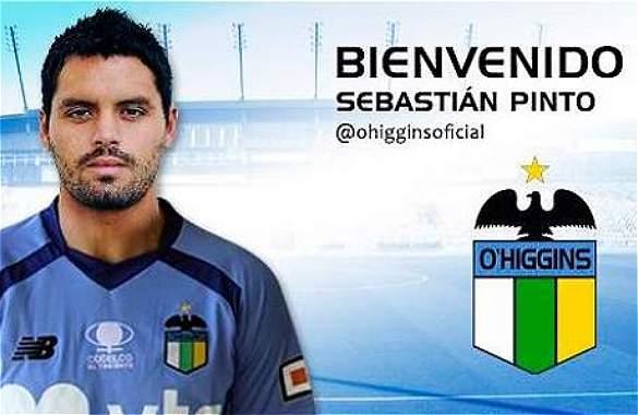 O\'Higgins hizo oficial la llegada del delantero Sebastián Pinto
