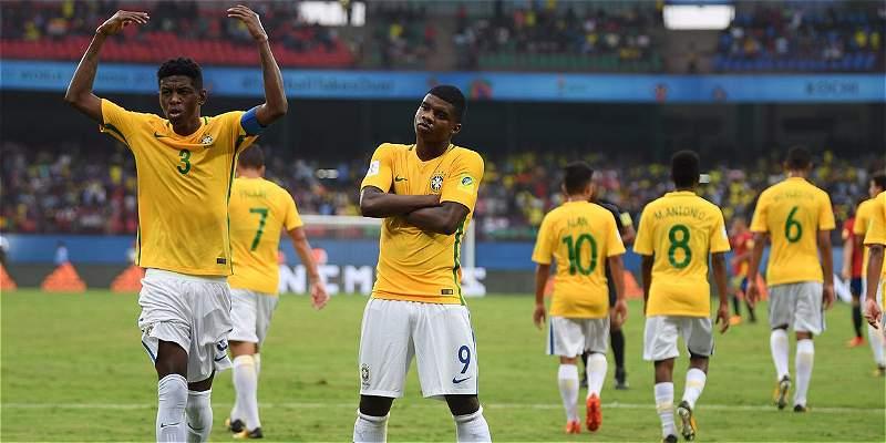 Brasil inició con paso firme en Mundial Sub-17 y venció 2-1 a España