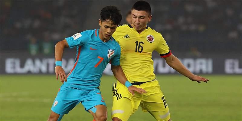 Colombia Sub-17 logró su primer triunfo en el Mundial: 1-2 sobre India