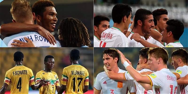 Inglaterra, Irán, España y Malí jugarán los cuartos del Mundial Sub-17
