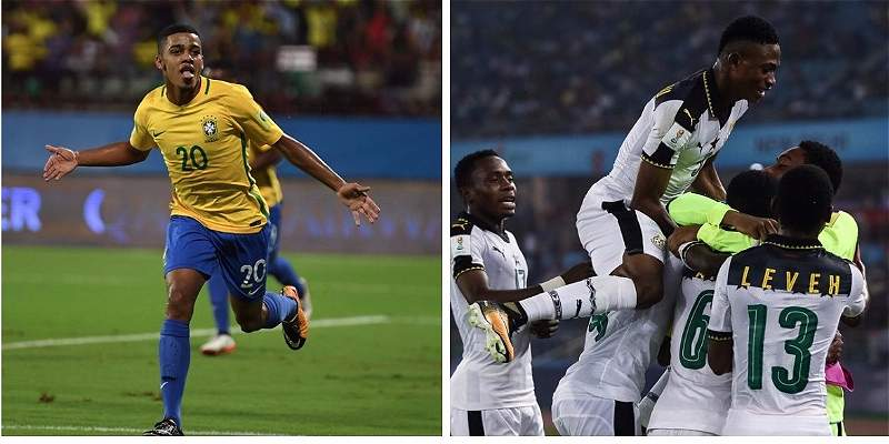 Brasil y Ghana avanzaron a cuartos de final del Mundial Sub-17