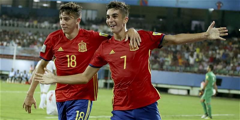 España venció 3-1 a Irán y está en semifinales del Mundial Sub-17