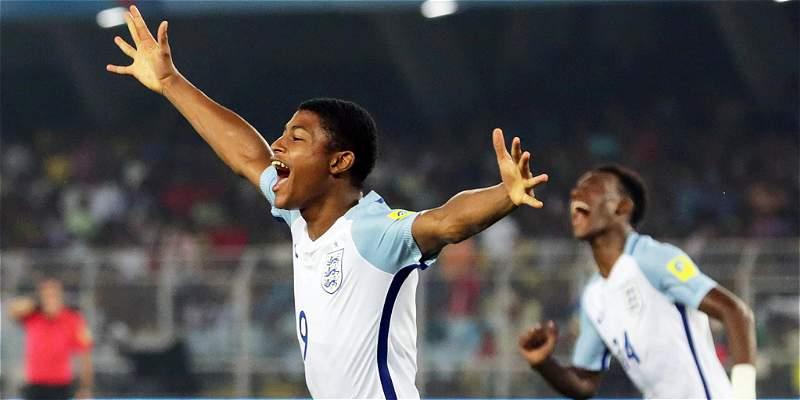 Inglaterra, primer finalista del Mundial Sub-17: venció 1-3 a Brasil