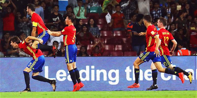 España venció 3-1 a Mali y es finalista del Mundial Sub-17 de India