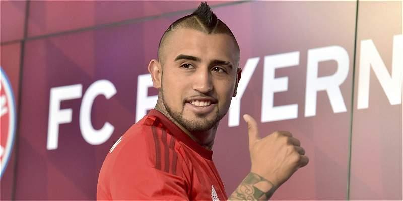 Las mejores imágenes de la presentación de Vidal en Bayern Múnich