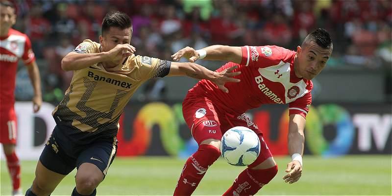 Con Fernando Uribe los 90 minutos, Toluca venció 2-1 a Pumas
