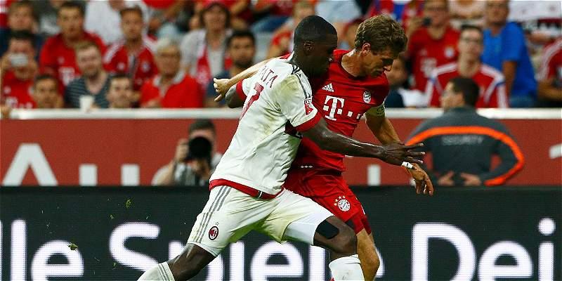 Con Bacca y Zapata en la cancha, Milan perdió 3-0 con Bayern Múnich