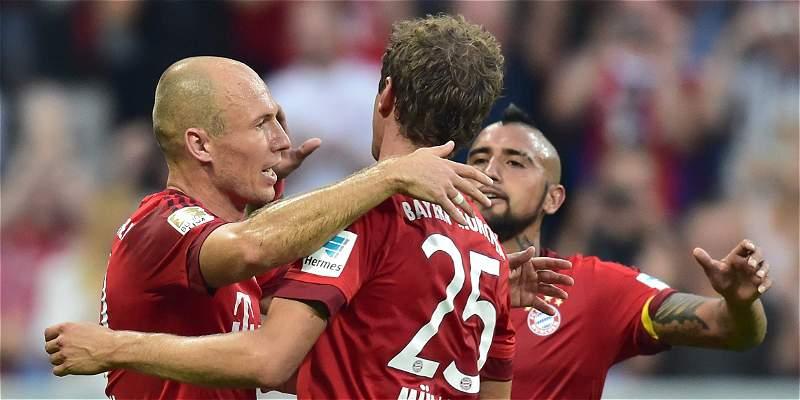 Bayern ganó 3-0 a Leverkusen
