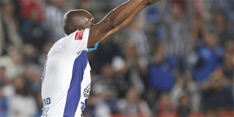 Aquivaldo Mosquera marcó en empate del Pachuca 1-1 frente a Atlas