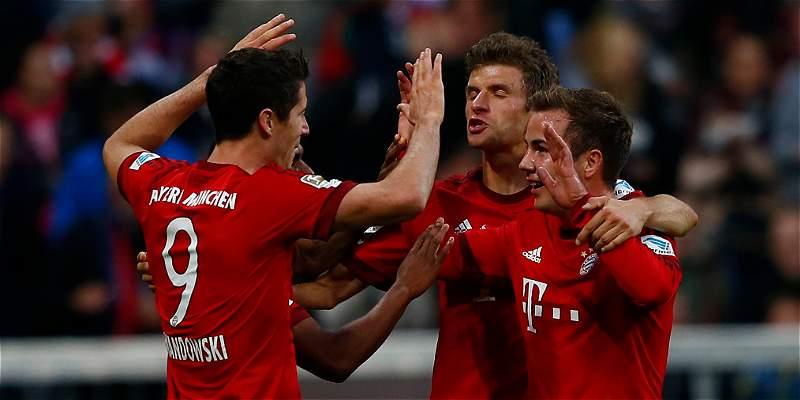 Bayern destrozó al Dortmund 5-1 y le sacó siete puntos de ventaja
