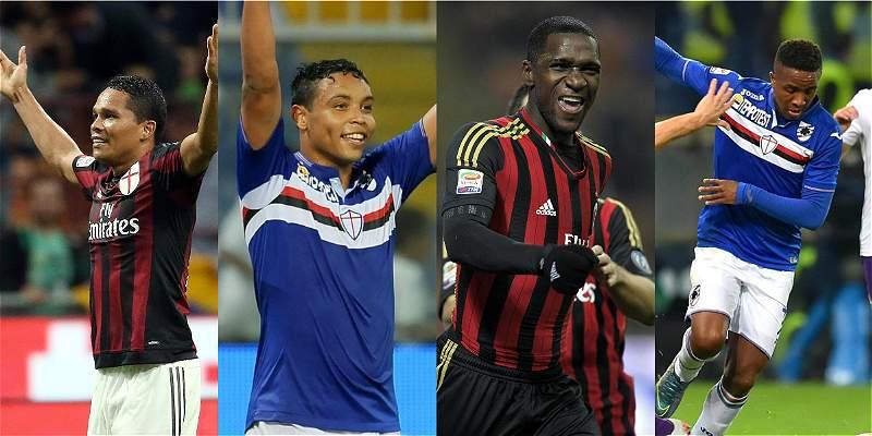 Colombianos Milan vs. Sampdoria
