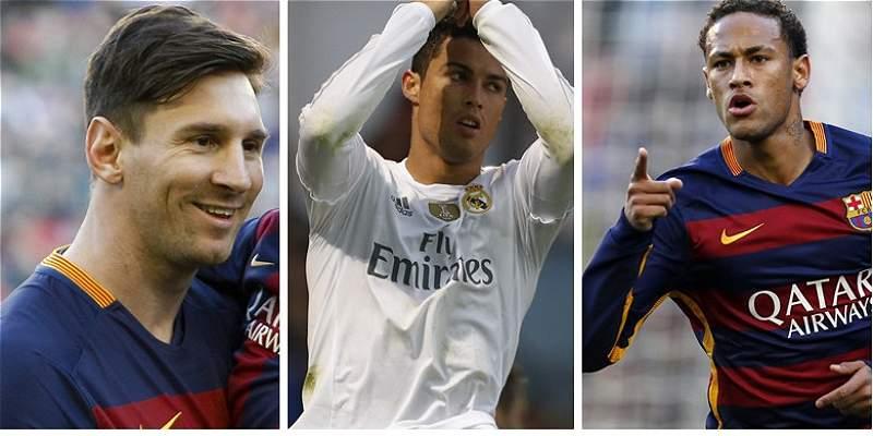 Messi, Cristiano y Neymar, los finalistas al Balón de Oro de la Fifa