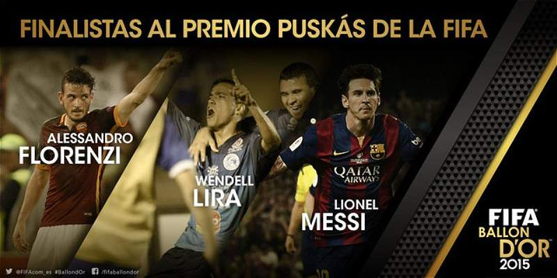 Florenzi, Messi y Lira, lucharán por el mejor gol del año