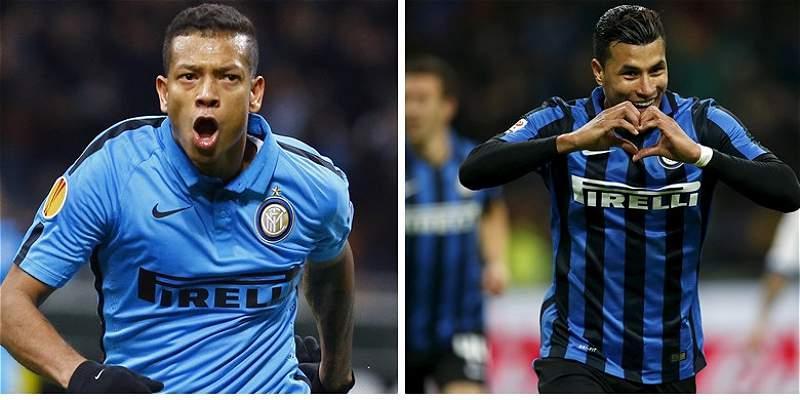 Jeison Murillo y Fredy Guarín, titulares con Inter frente al Nápoles