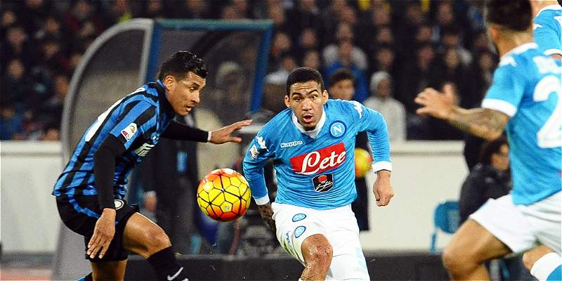 Con Guarín y Murillo, Inter perdió 2-1 con Nápoles, que es líder