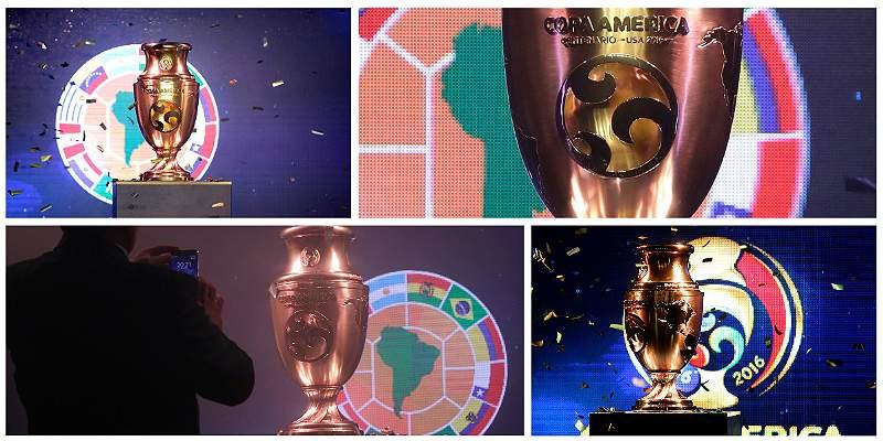 Las mejores imágenes del trofeo de la Copa  América Centenario
