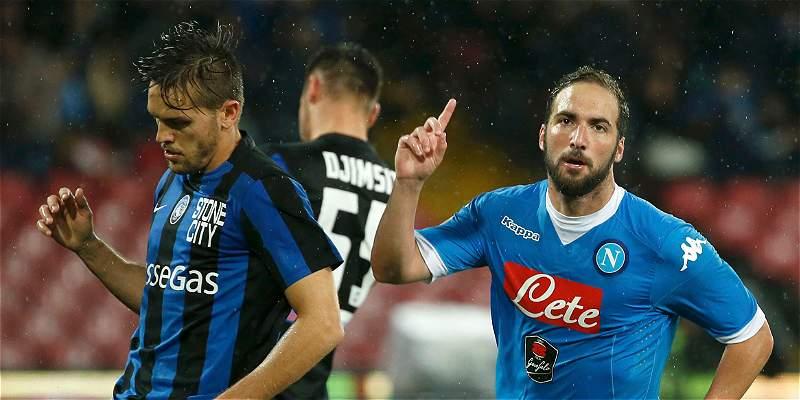 Con doblete de Gonzalo Higuaín, Nápoles le ganó 2-1 al Atalanta