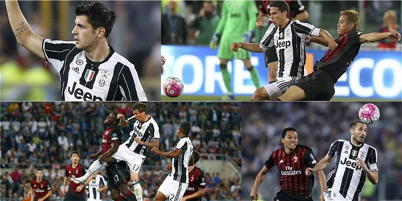 En fotos: Juventus venció a Milan 0-1 y se quedó con la Copa italiana