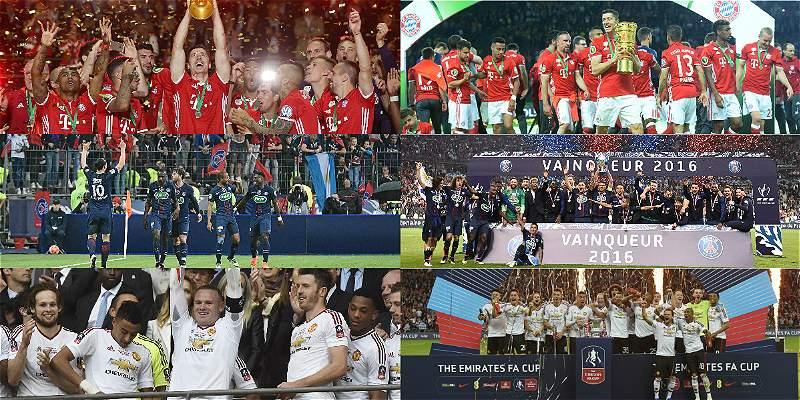 En fotos: así celebraron PSG, Bayern Múnich y Manchester United