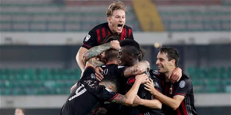 Bacca estuvo los últimos minutos con Milan, que venció 1-3 al Chievo