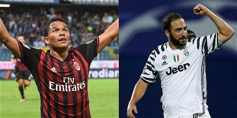 Carlos Bacca, más efectivo que Higuaín de cara al Milan vs. Juventus