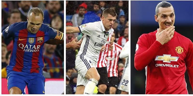 Iniesta, Kroos e Ibrahimovic, también aspiran al Balón de Oro