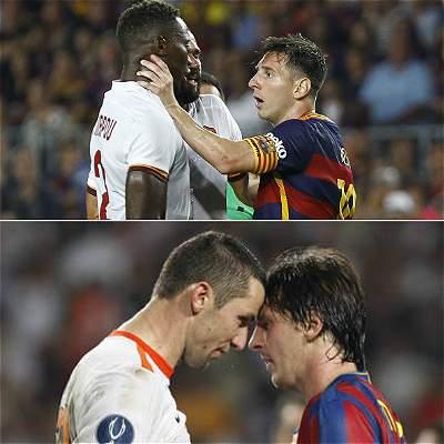 Lionel Messi agresiones y reacciones