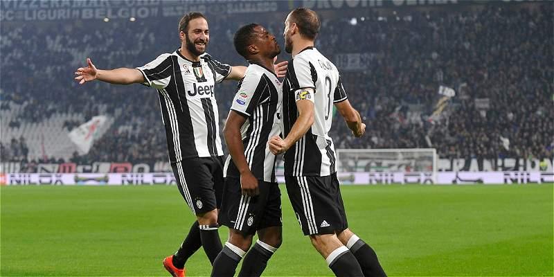 Juventus, con Cuadrado titular, venció 4-1 a la Sampdoria de Muriel