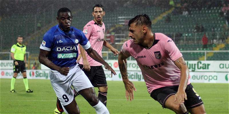 Udinese, con Duván Zapata los 90 minutos, venció 1-3 a Palermo