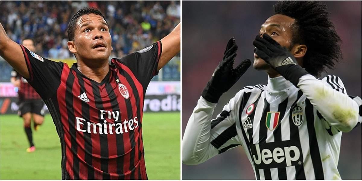 Juventus vs. Milan: Cuadrado y Bacca buscan la Supercopa de Italia