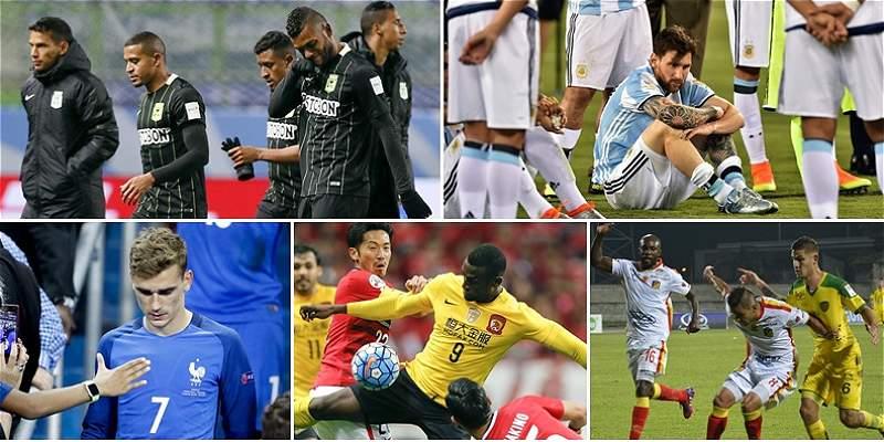Las decepciones en el mundo del fútbol local e internacional en 2016