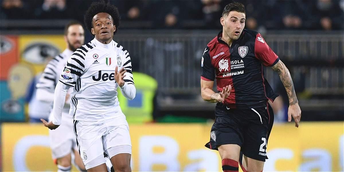 Cuadrado: 90 minutos y buen juego en el 0-2 de Juventus sobre Cagliari