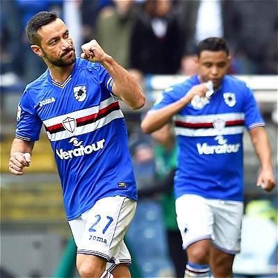 Sampdoria, con Muriel, igualó 1-1 con el Cagliari de Víctor Ibarbo