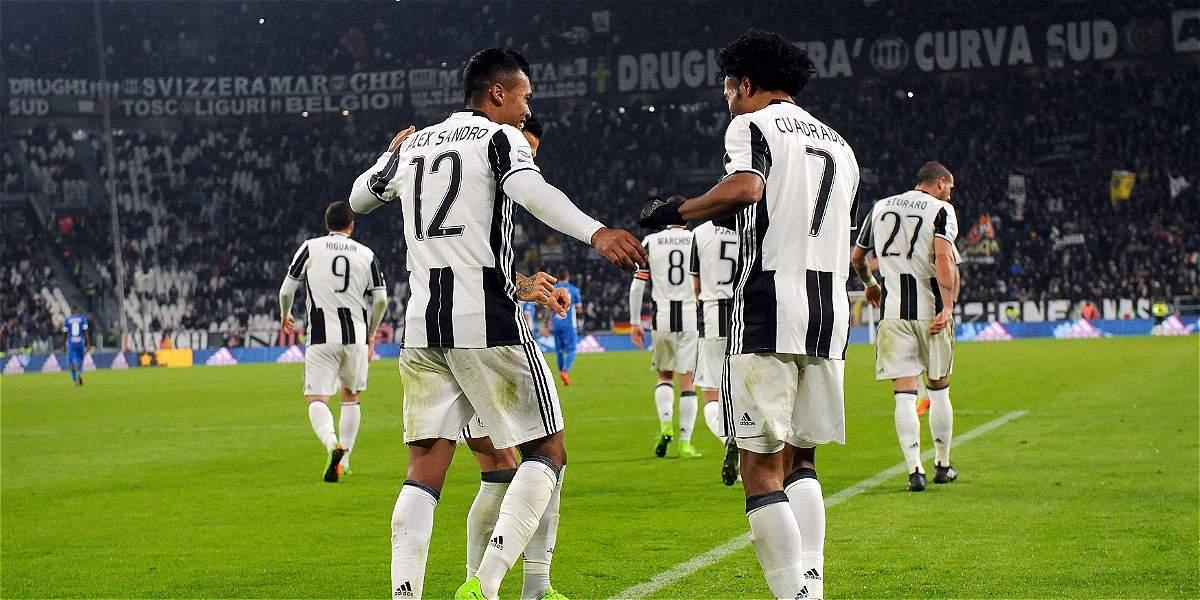 Cuadrado fue protagonista en el triunfo de Juventus 2-0 sobre Empoli