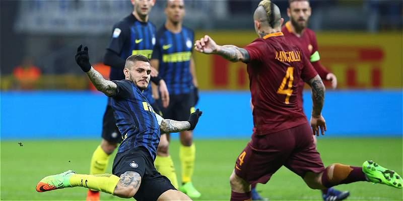 Con 90 minutos de Jeison Murillo, Inter cayó 1-3 con Roma