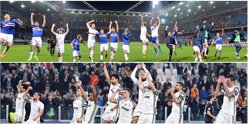 Sampdoria y Juventus