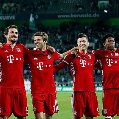 A Bayern no lo paran en la Liga alemana: venció 0-1 al Mönchengladbach