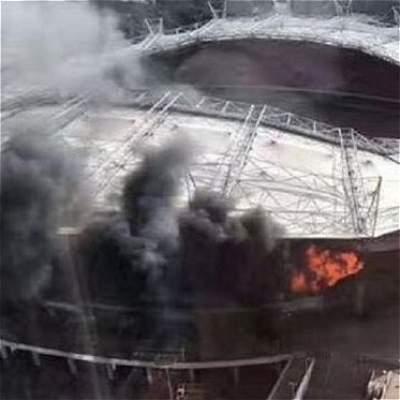 Se incendió el estadio del Shanghái, en el que juegan Guarín y Moreno