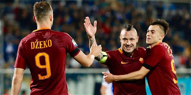 Roma superó 4-1 a Pescara y lo mandó a la Segunda División de Italia