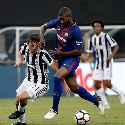 Con Cuadrado 30 minutos, Juventus perdió 2-1 con Barcelona en amistoso