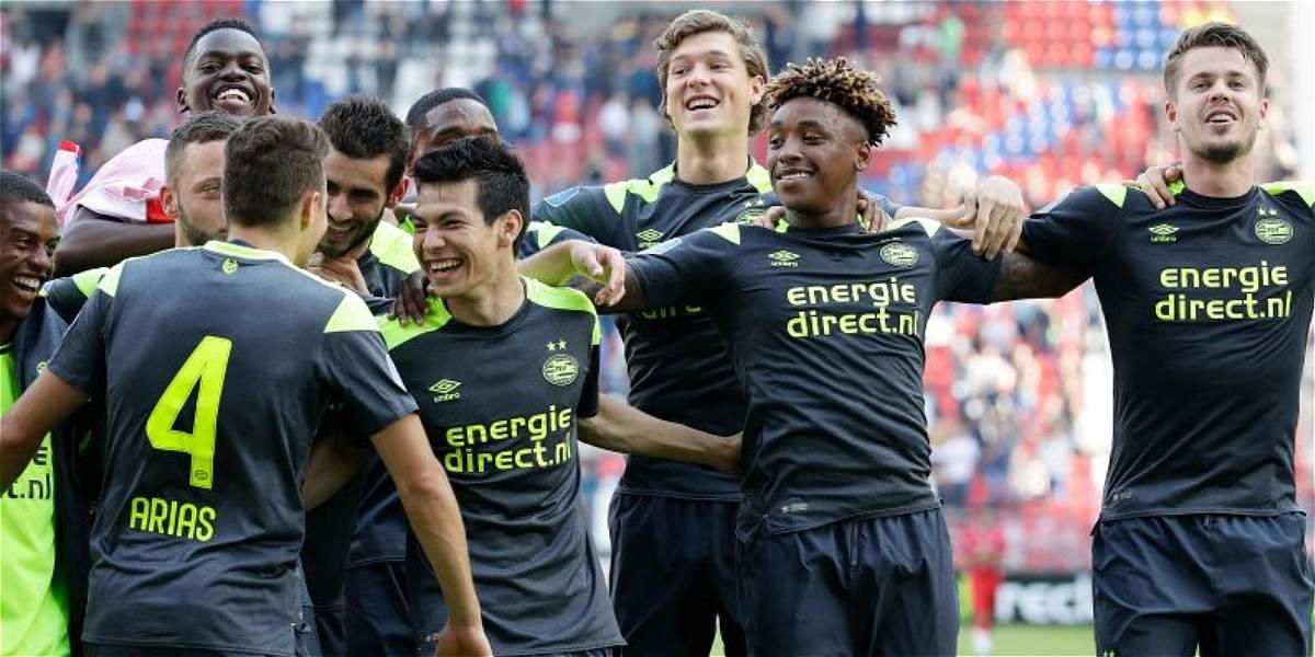 PSV, con Santiago Arias, goleó 1-7 al FC Utrecht y es líder en Holanda