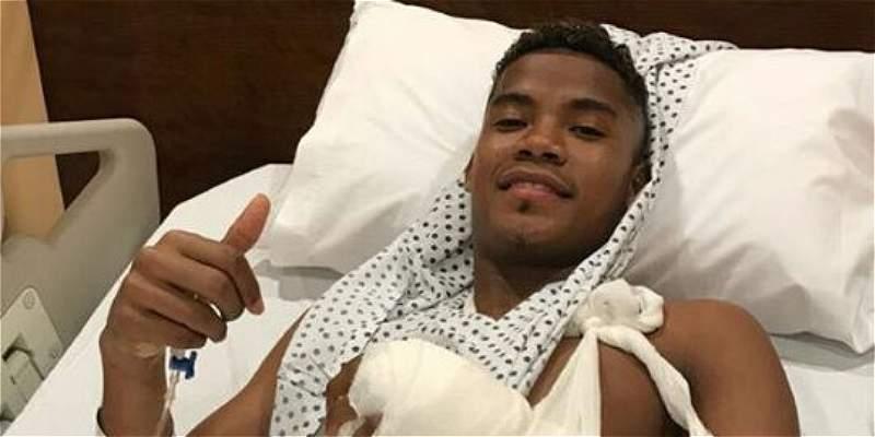 Wilmar Barrios se recupera de su operación en la mano izquierda