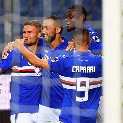 Con asistencia de Duván Zapata, Sampdoria goleó 5-0 a Crotone